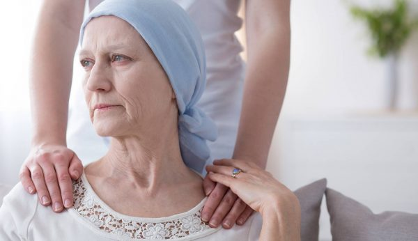 Caregiver with cancer patient